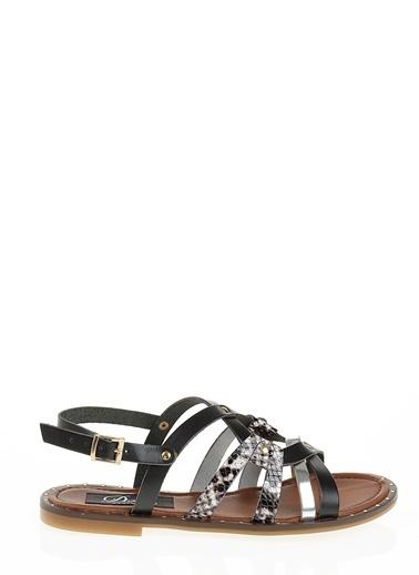 Derigo Siyah Kadın Sandalet 52481 Siyah